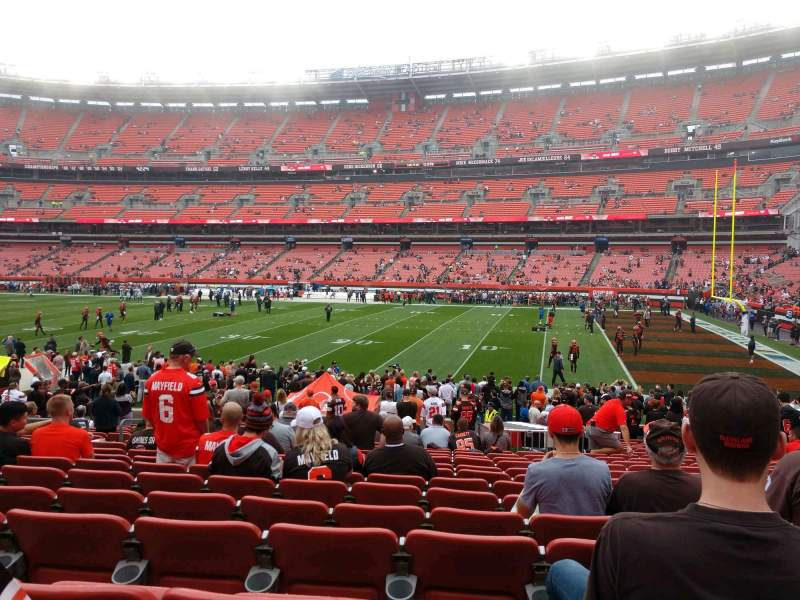 Seating view for FirstEnergy Stadium Section 137 Row 19 Seat 10