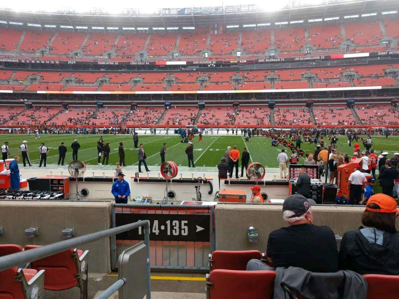 Seating view for FirstEnergy Stadium Section 135 Row 5 Seat 1