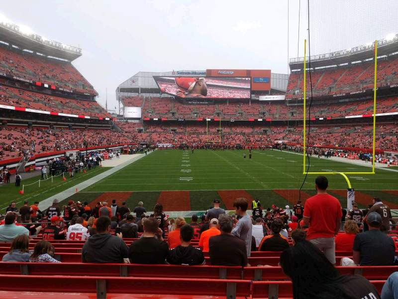 Seating view for FirstEnergy Stadium Section 119 Row 18 Seat 11