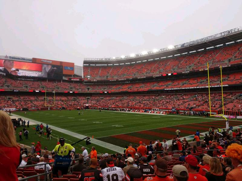 Seating view for FirstEnergy Stadium Section 117 Row 17 Seat 5