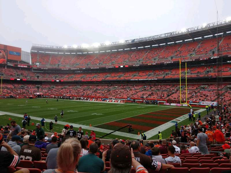 Seating view for FirstEnergy Stadium Section 115 Row 17 Seat 14