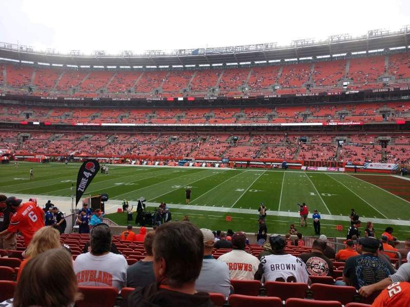 Seating view for FirstEnergy Stadium Section 111 Row 17 Seat 16