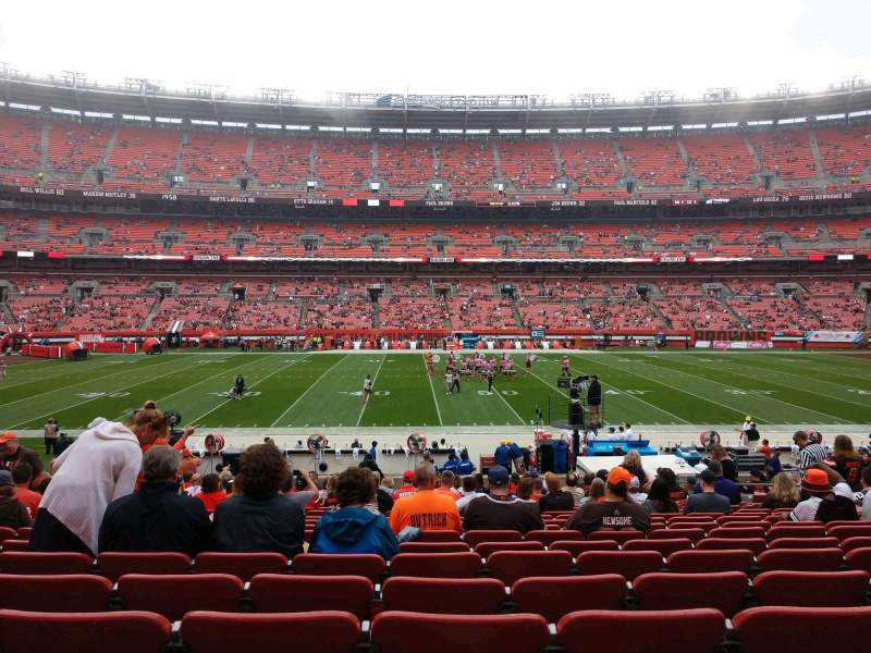 Seating view for FirstEnergy Stadium Section 108 Row 21 Seat 11