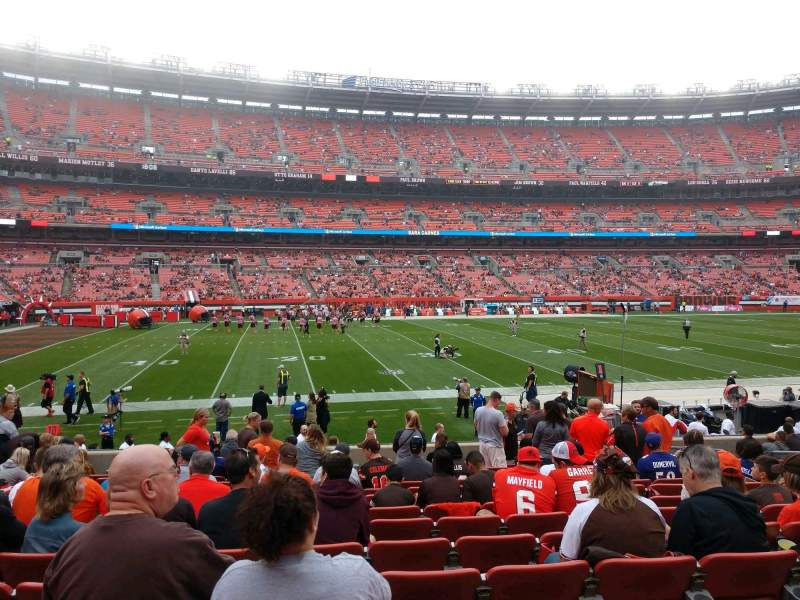 Seating view for FirstEnergy Stadium Section 106 Row 14 Seat 13