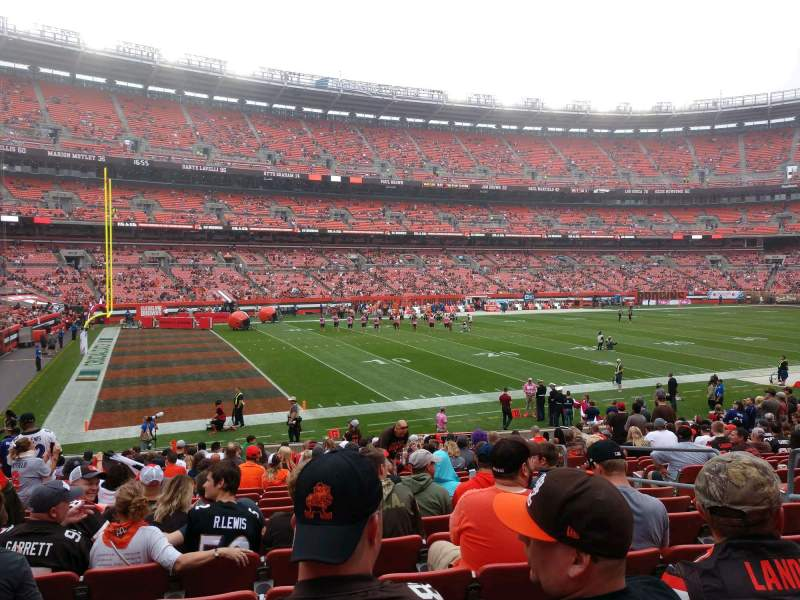 Seating view for FirstEnergy Stadium Section 104 Row 19 Seat 15
