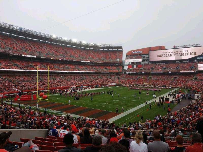 Seating view for FirstEnergy Stadium Section 101 Row 33 Seat 20