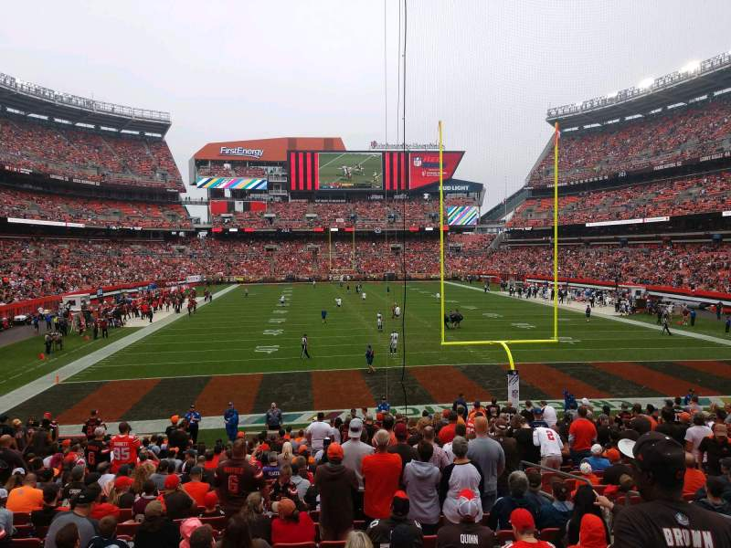 Seating view for FirstEnergy Stadium Section 146 Row 19 Seat 13