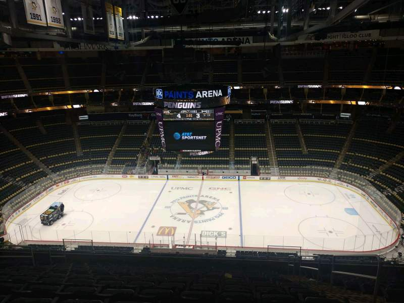 Seating view for PPG Paints Arena Section 219 Row N Seat 3