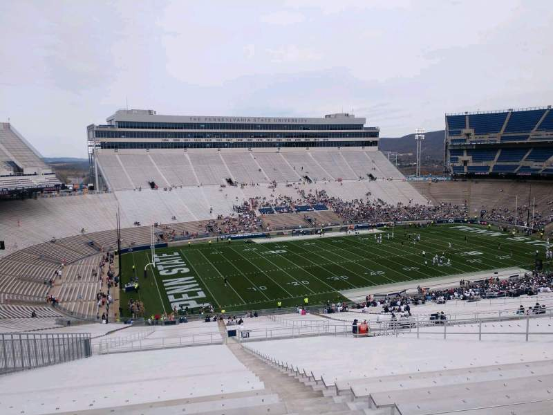 Seating view for Beaver Stadium Section WJU Row 80 Seat 4