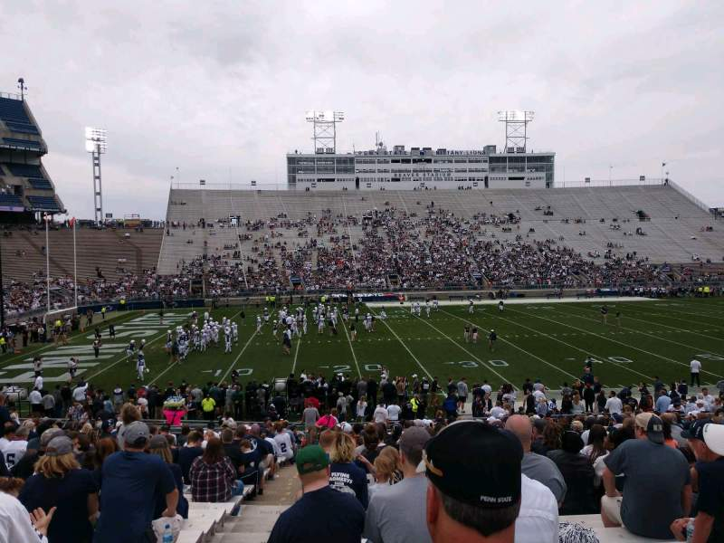 Seating view for Beaver Stadium Section EC Row 13 Seat 1
