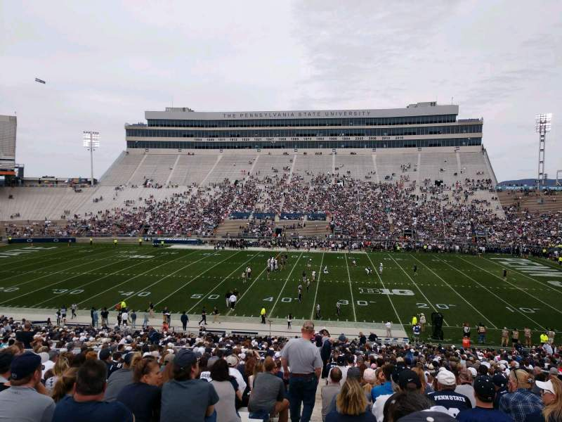 Seating view for Beaver Stadium Section WD Row 34 Seat 1