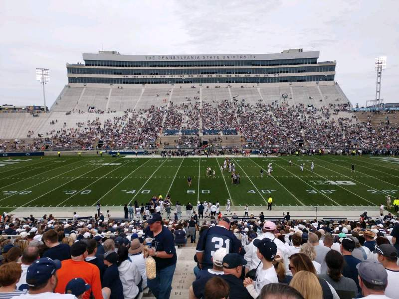 Seating view for Beaver Stadium Section WE Row 24 Seat 1