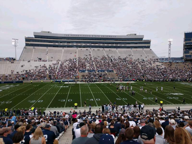 Seating view for Beaver Stadium Section WF Row 27 Seat 1