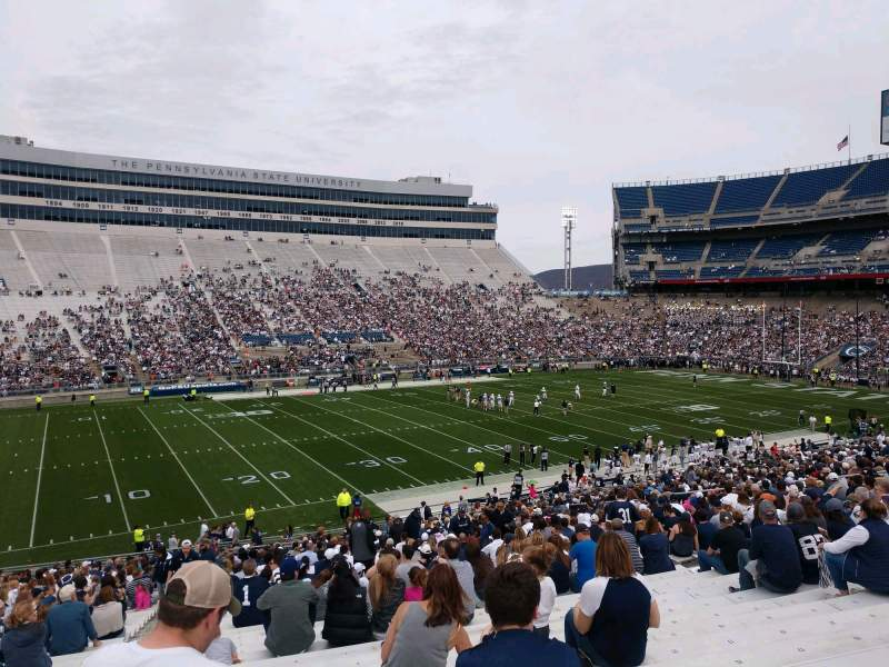 Seating view for Beaver Stadium Section WH Row 30 Seat 3
