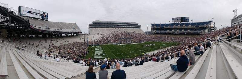Seating view for Beaver Stadium Section WJ Row 25 Seat 5