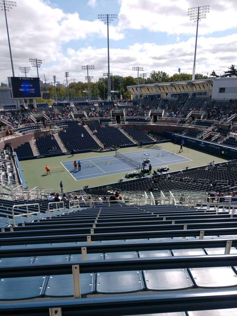 Seating view for Billie Jean King National Tennis Center, Grandstand Section H Row R Seat 7