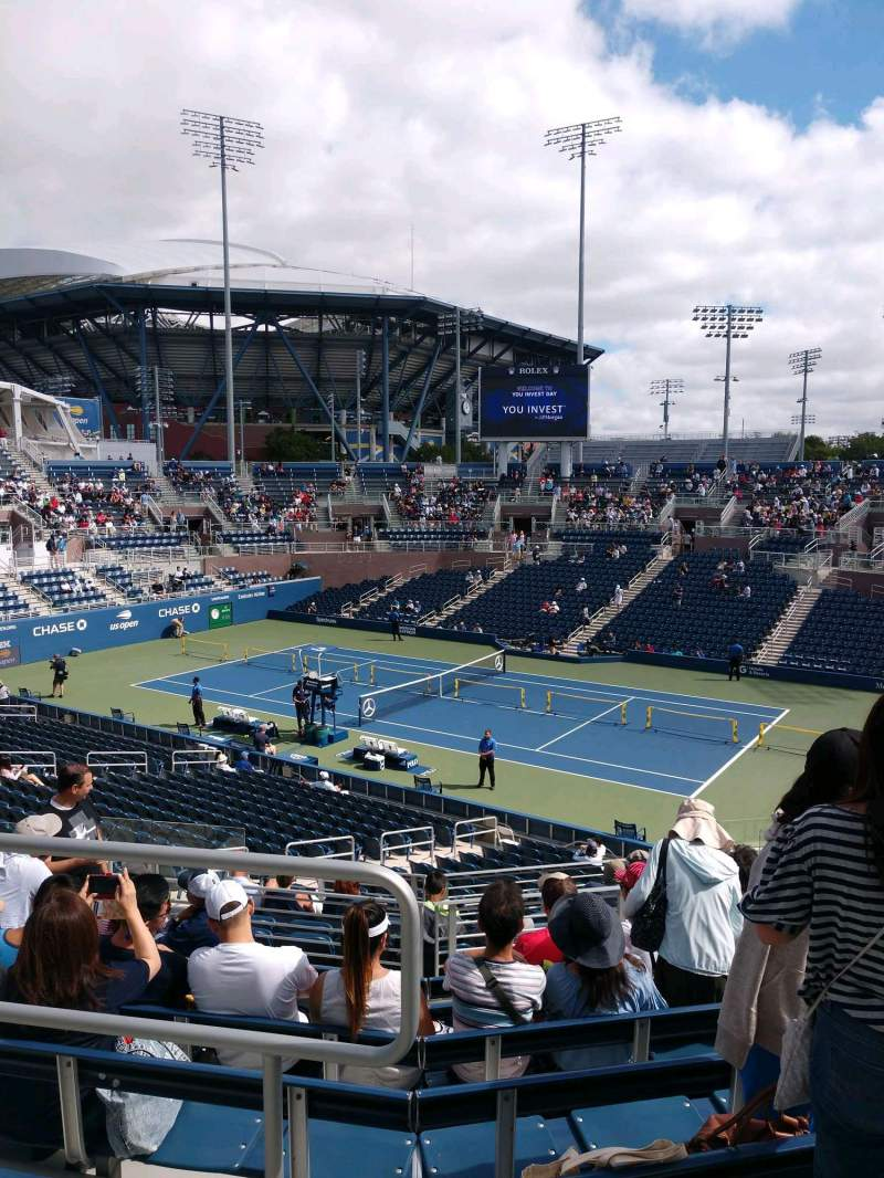 Seating view for Billie Jean King National Tennis Center, Grandstand Section N Row H Seat 1