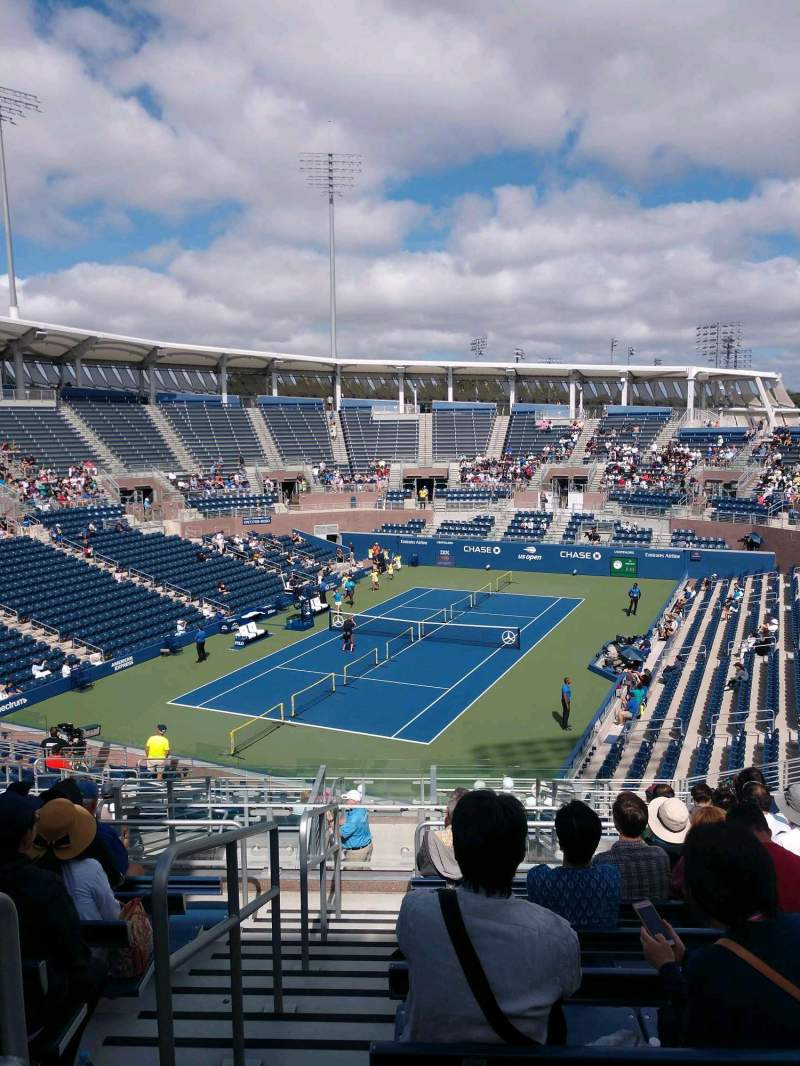 Seating view for Billie Jean King National Tennis Center, Grandstand Section U Row H