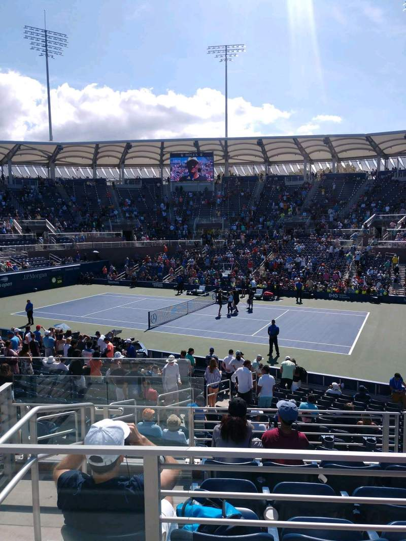 Seating view for Billie Jean King National Tennis Center, Grandstand Section CC Row B Seat 1