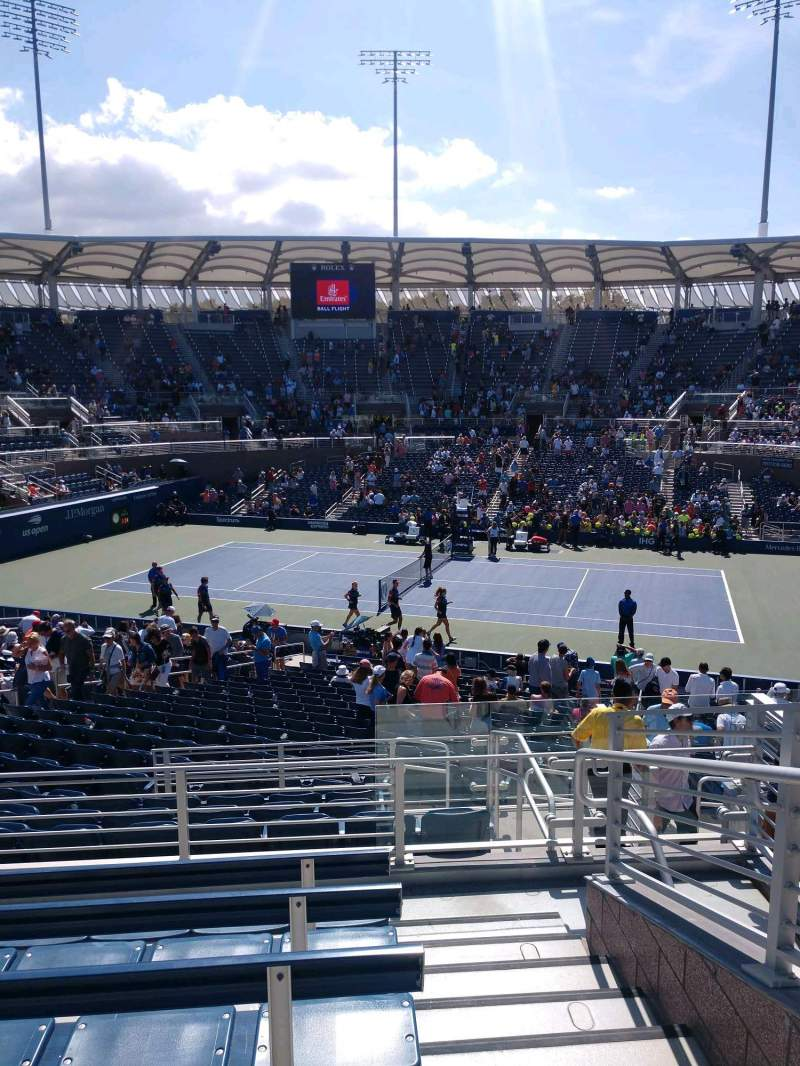 Seating view for Billie Jean King National Tennis Center, Grandstand Section BB Row E Seat 1