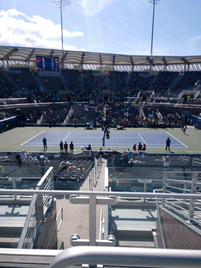 Seating view for Billie Jean King National Tennis Center, Grandstand Section AA Row G Seat 13