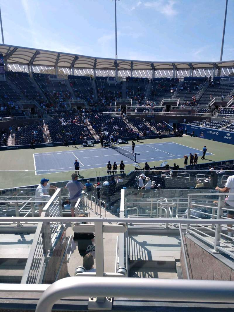 Seating view for Billie Jean King National Tennis Center, Grandstand Section Y Row G Seat 1