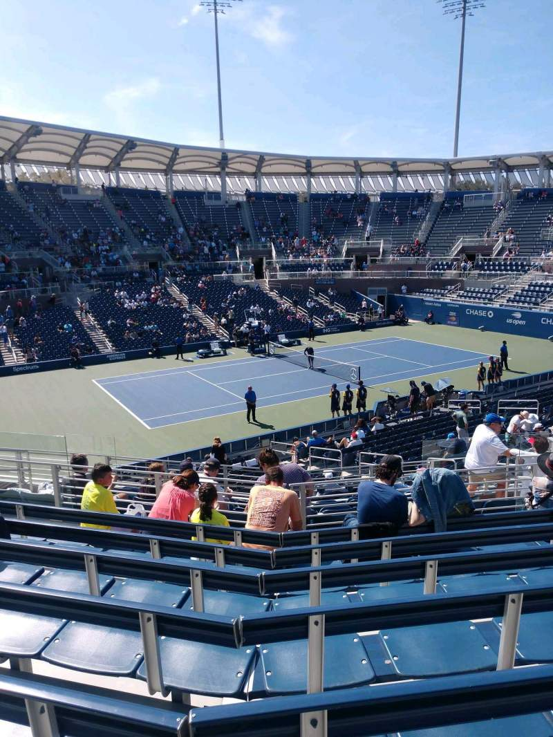Seating view for Billie Jean King National Tennis Center, Grandstand Section X Row G Seat 1