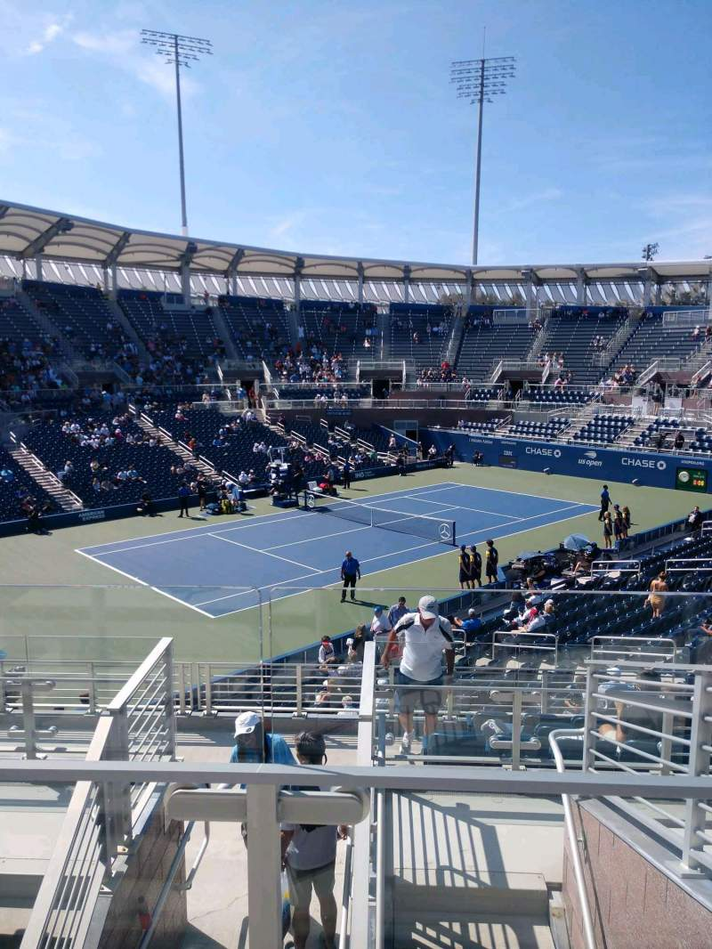 Seating view for Billie Jean King National Tennis Center, Grandstand Section W Row G Seat 1