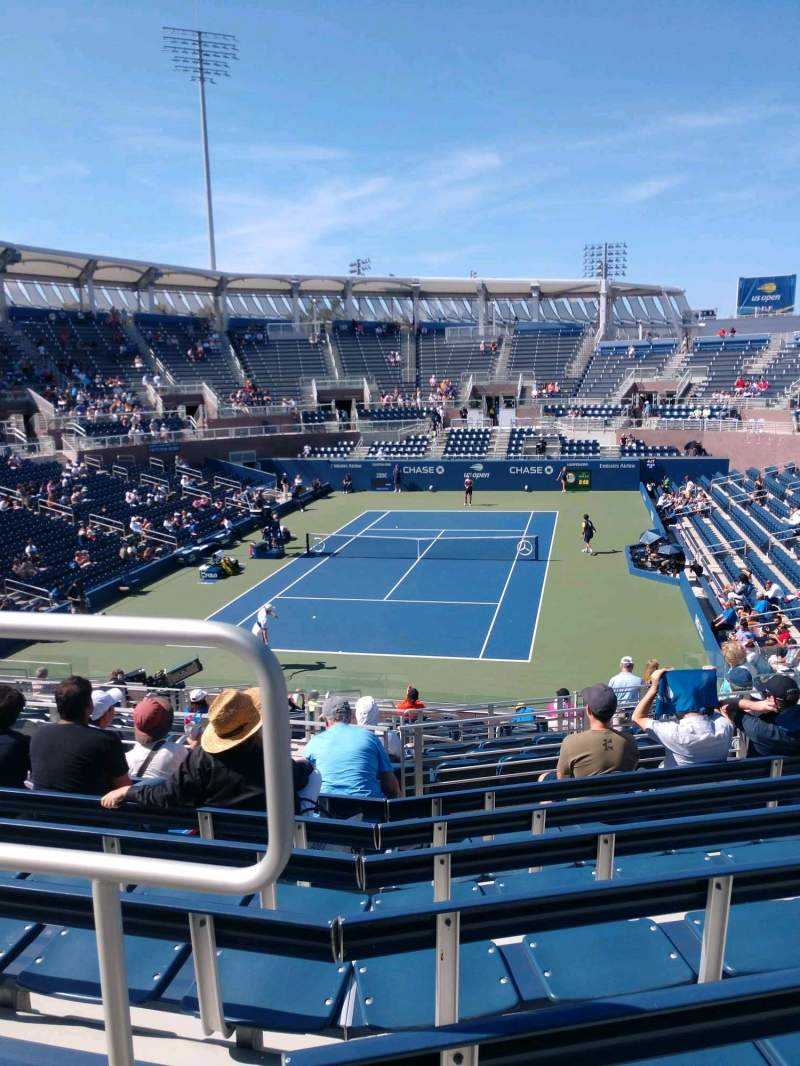Seating view for Billie Jean King National Tennis Center, Grandstand Section T Row G Seat 1