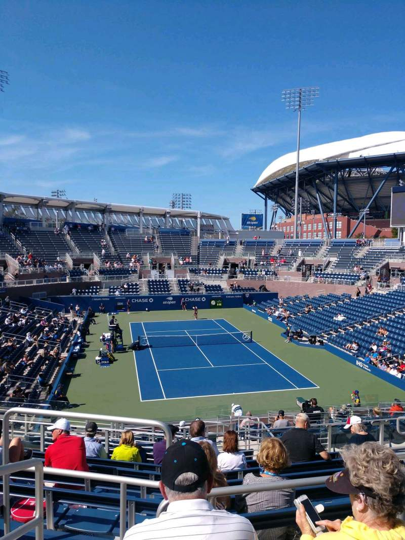 Seating view for Billie Jean King National Tennis Center, Grandstand Section R Row C Seat 1