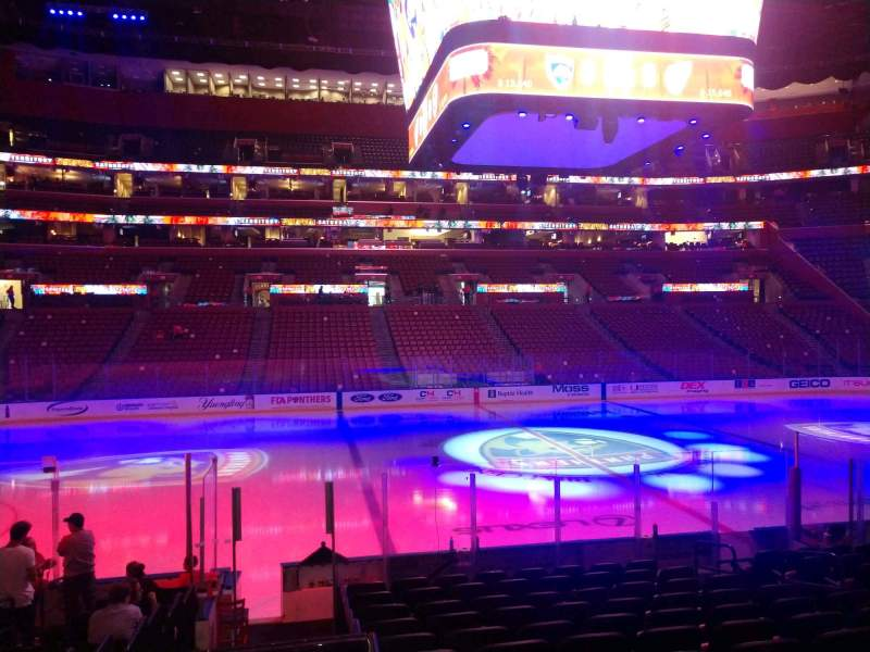 Seating view for BB&T Center Section 102 Row 13 Seat 9