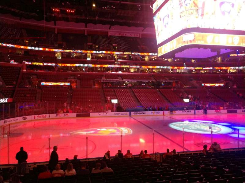 Seating view for BB&T Center Section 120 Row 16 Seat 9