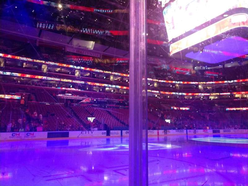 Seating view for BB&T Center Section 121 Row 1 Seat 4