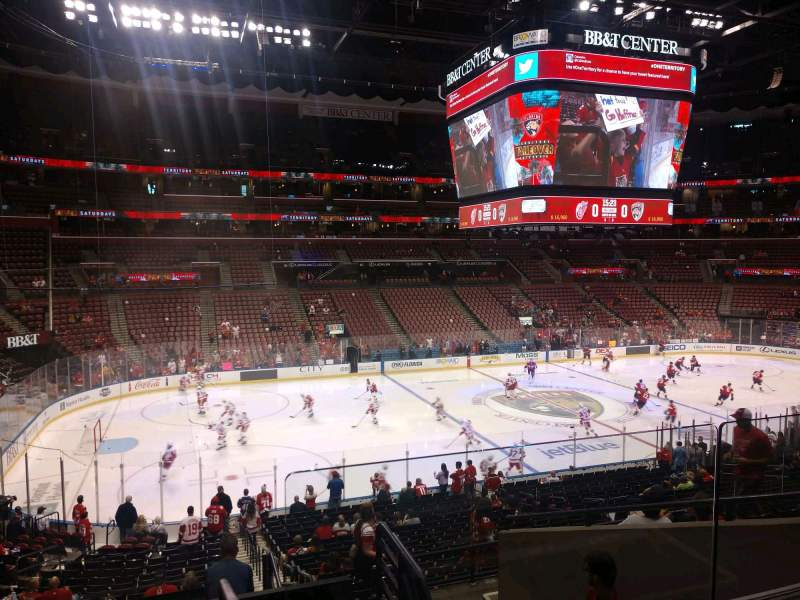 Seating view for BB&T Center Section 121 Row 25 Seat 2