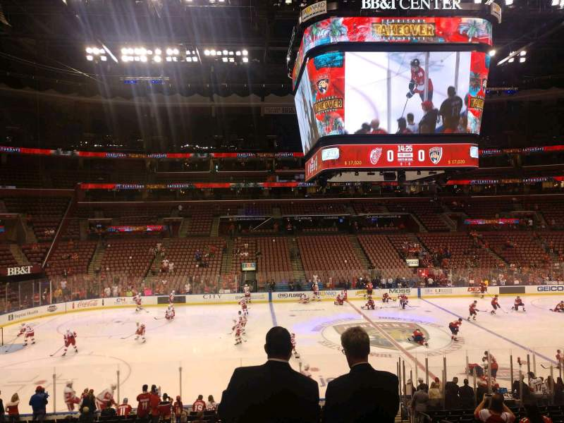 Seating view for BB&T Center Section 119 Row 21 Seat 8