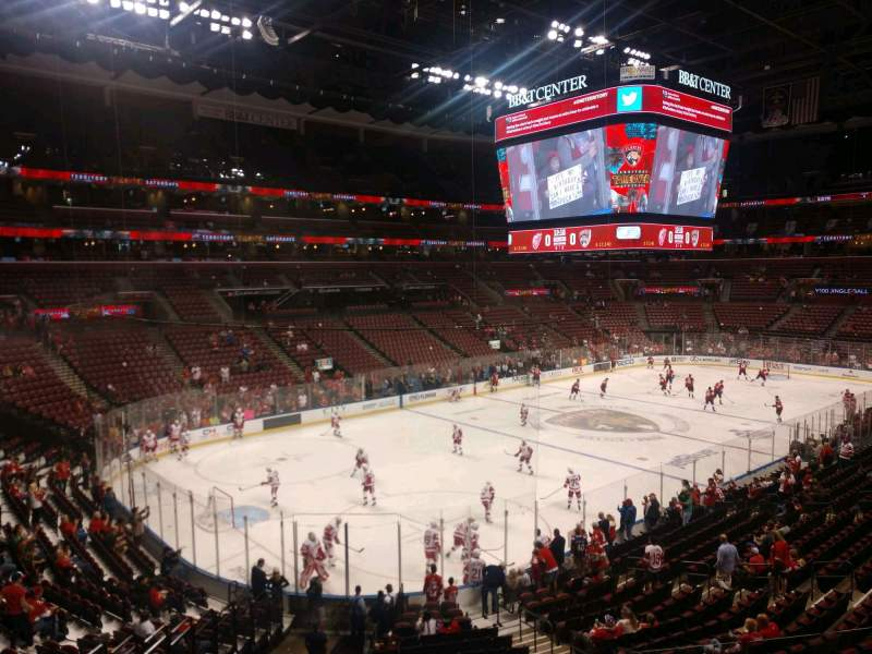 Seating view for BB&T Center Section 123 Row 22 Seat 8