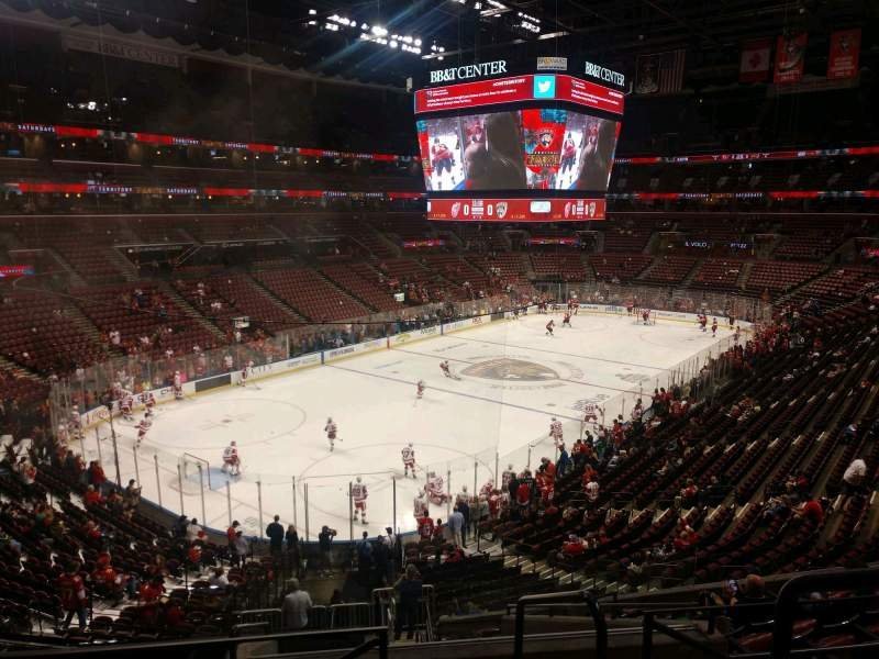 Seating view for BB&T Center Section 124 Row 26 Seat 2