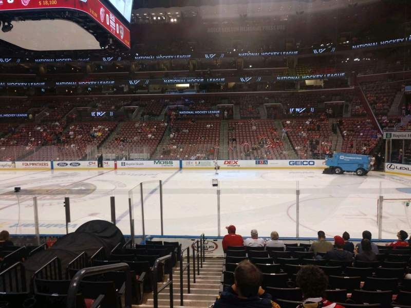 Seating view for BB&T Center Section 133 Row 12 Seat 14