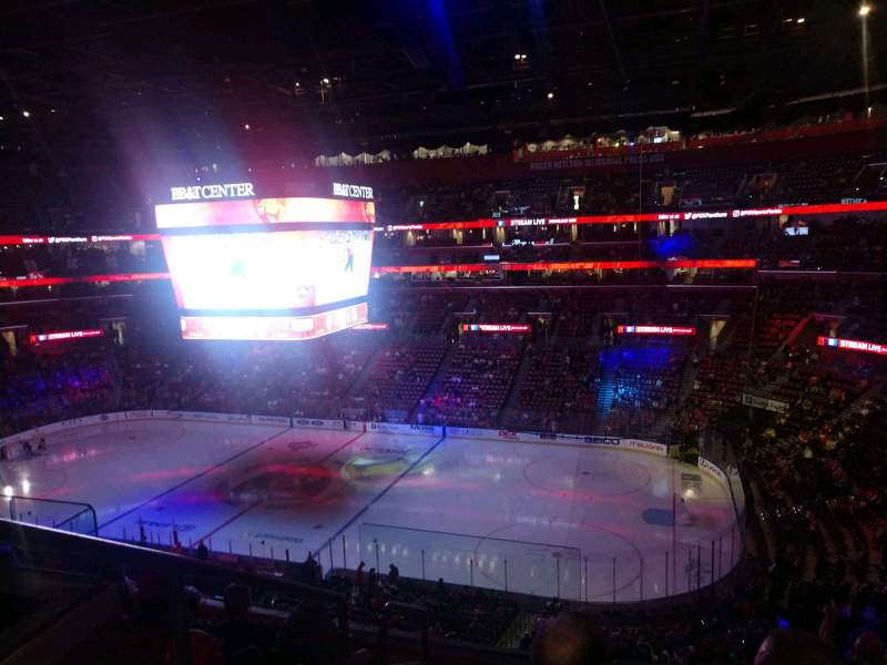 Seating view for FLA Live Arena Section CL33 Row 6 Seat 8