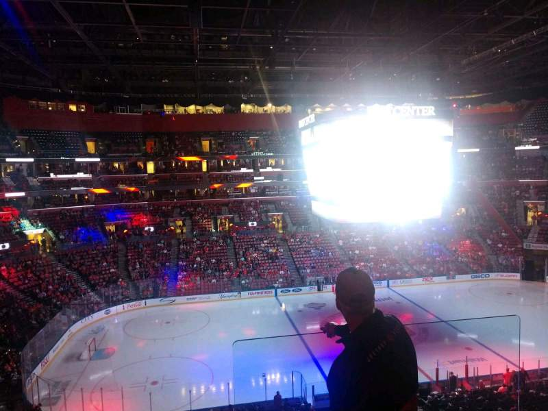 Seating view for BB&T Center Section CL03 Row 3 Seat 1