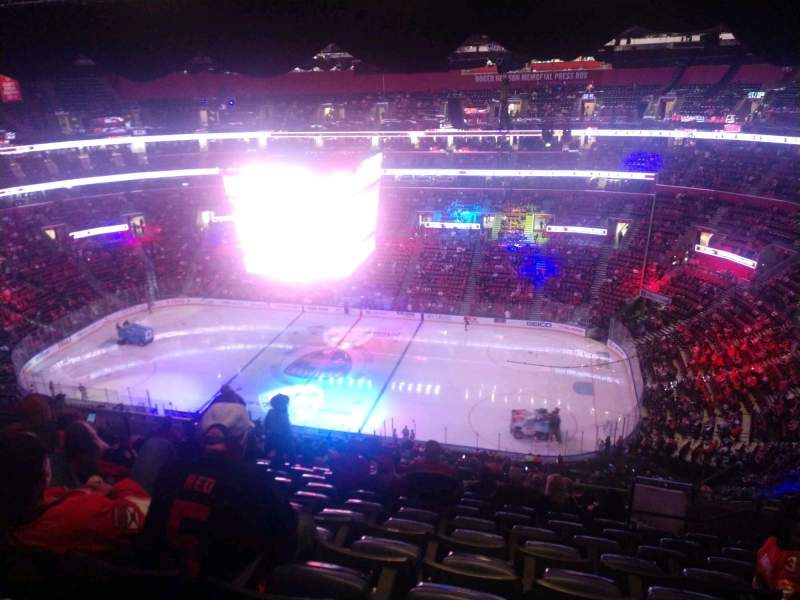 Seating view for FLA Live Arena Section 332 Row 15 Seat 7