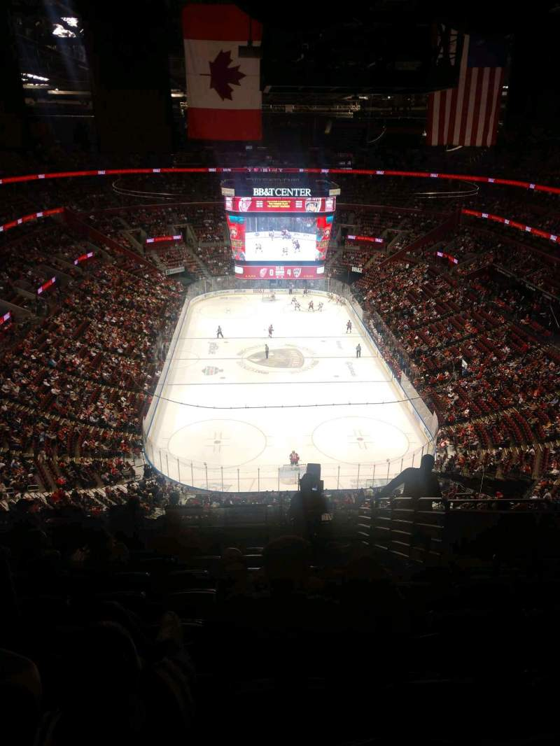 Seating view for BB&T Center Section 310 Row 12 Seat 7