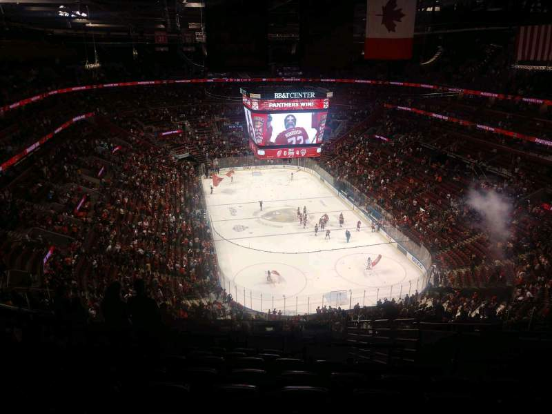 Seating view for BB&T Center Section 311 Row 12 Seat 8