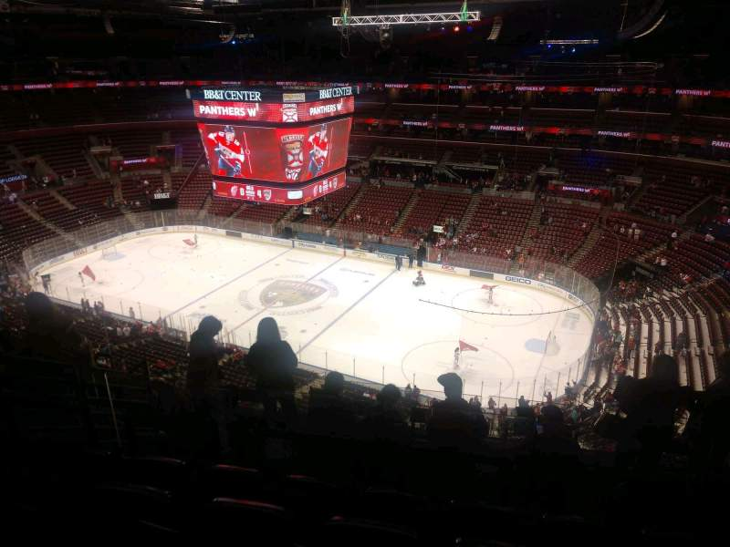 Seating view for BB&T Center Section 315 Row 8 Seat 10