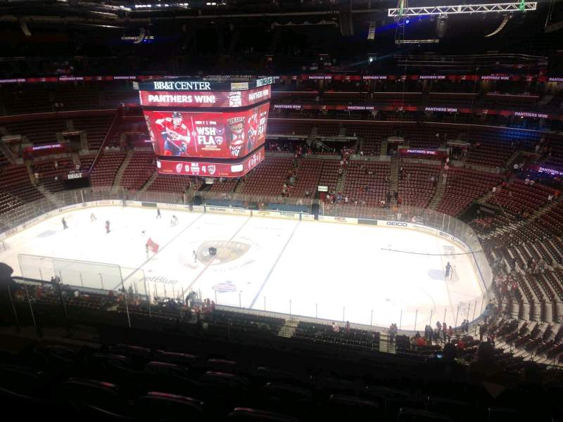 Seating view for BB&T Center Section 316 Row 7 Seat 10
