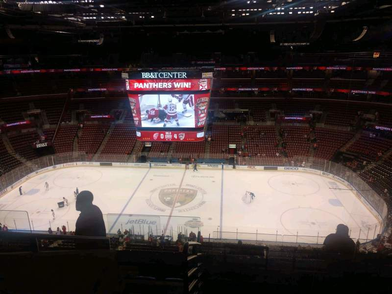 Seating view for BB&T Center Section 317 Row 7 Seat 6