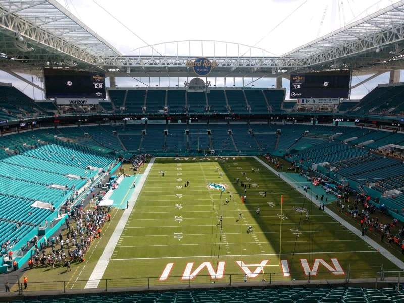Seating view for Hard Rock Stadium Section 305 Row 13 Seat 13