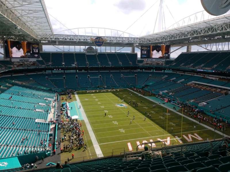 Seating view for Hard Rock Stadium Section 307 Row 20 Seat 10