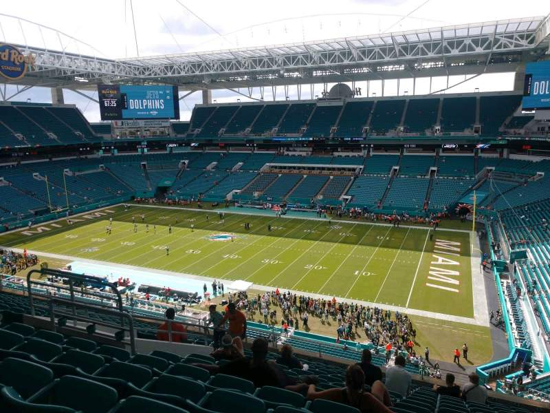Seating view for Hard Rock Stadium Section 314 Row 14 Seat 14