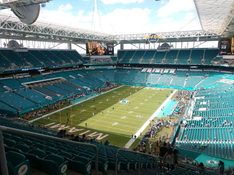 Seating view for Hard Rock Stadium Section 328 Row 23 Seat 22